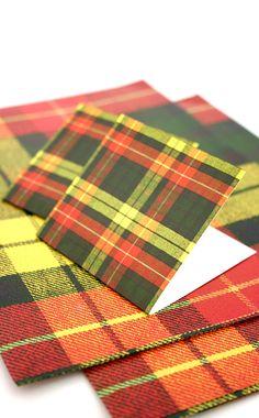 Buchanan tartan stationery