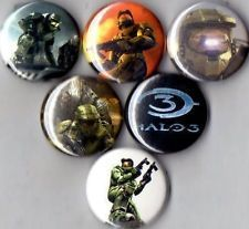 Halo gaming pins || These belong on my hat covered in pins.