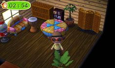 Animal Crossing: New Leaf Diary, Day 10: Saw some of the patchwork series while I was on a scavenger hunt, it looks very handmade/thrift store (cute).