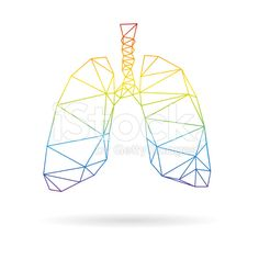 Lungs abstract isolated on a white backgrounds royalty-free stock vector art