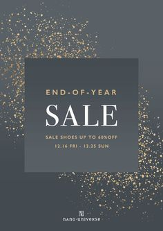END-OF-YEAR SALE on Behance Email Design, Ad Design, Flyer Design, Layout Design, Logo Design, Graphic Design, Sale Banner, Web Banner, Banner Design Inspiration