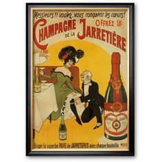 Art.com Champagne De La Jarretiere Framed Art Print