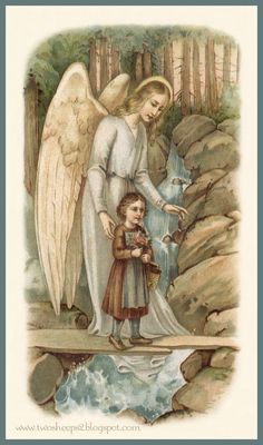 Guardian Angel, by my side! Gardian Angel, Angel Protector, Entertaining Angels, Vintage Holy Cards, Angel Drawing, Spiritual Images, I Believe In Angels, Angel Pictures, Angels Among Us