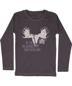 Wheat nice steel grey t-shirt with antlers print
