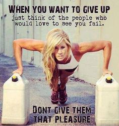 Don't give up Fitness Motivation