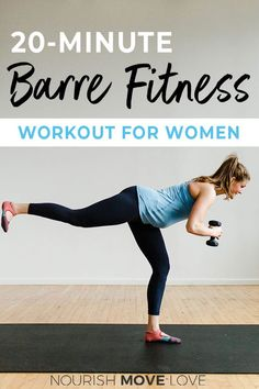 Grab this free barre workout video here! This 20 minute at home workout video is a perfect way to reach your wellness goals and get fit at home. Click through for this free workout video today! & Nourish Move Love Source by eagerfit Barre Workout Video, Barre Exercises At Home, Cardio Barre, Home Workout Videos, 20 Minute Workout, Hiit, At Home Workouts, Free Workout, Workout Classes