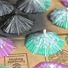Painting Cocktail Umbrellas for a Mary Poppins Party