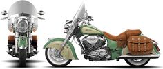 2015 Indian Chief Vintage Willow Green & Ivory Cream Motorcycle : Not really my style, but a beautiful bike nonetheless