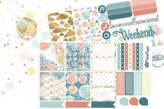 Planner Sticker Weekly Kit Seascape for your Erin Condren Life Planner, Plum…