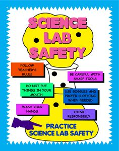 Science Lab Safety is very important! Science Safety Posters, Science Lab Safety, Science Room, Science Classroom, Teaching Science, Life Science, 7th Grade Science, Elementary Science, Middle School Science