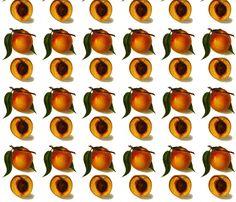 best peaches fabric by saltlabs on Spoonflower - custom fabric