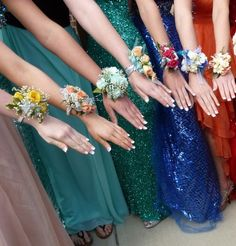 Our Greenfield Girls!  Formal Dance Wrist corsages by Penny's!