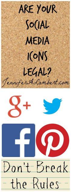 Are your Social Media Icons Legal? http://www.intelisystems.com  Duidelijk blog over wat je wel en niet mag gebruiken van de social media logo's, handig!