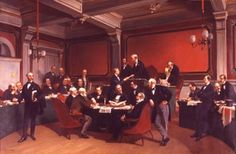 Geneva Convention signing Painting by Armand Dumaresq