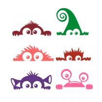 Monster Decal SVG Cuttable Designs