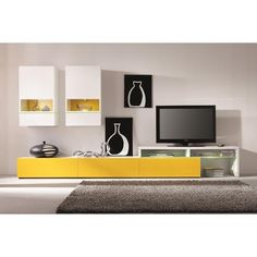 MATERIALMDF, Melamine, Tempered Glass, LED Lighting The Amsterdam wall unit is the trifecta of all wall units, incorporating modular capability, space saving
