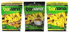 Barnana Organic Chewy Banana Bites 3 Flavor Variety Bundle: (1) Barnana Peanut Butter, (1) Barnana Coffee, and (1) Barnana Original Plain, 3.5 Oz. Ea. (3 Bags Total)