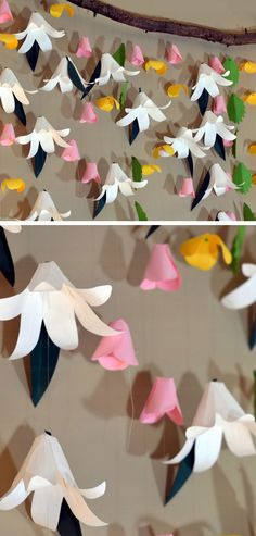 Easter Lily Backdrop | DIY Easter Decor Ideas for the Home | Easy Easter Decorations for Kids