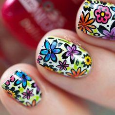 Spring Stamping Nail Art - Bundle Monster & Colores De Carol collaboration plate