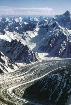 Baltoro Glacier -one of the longest glaciers outside the polar regions. Located in Baltistan close to the Balti town of Skardu.