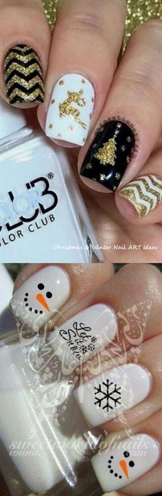 32 Great Ideas Nail Art Design for Wintry Mood 1 - Nails Art Ideas Winter Nail Art, Winter Nails, Toe Nail Designs, Acrylic Nail Designs, Holiday Nails, Christmas Nails, Bright Colors Art, Spring Tutorial, Best Acrylic Nails