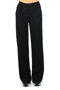 MANILA GRACE - Pantaloni - Abbigliamento - Pantaloni in viscosa modello a palazzo con elastico in vita con tasche laterali. - MD196 - € 198.00