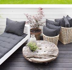 DIY | terassin kulmasohvasta aurinkotuolit