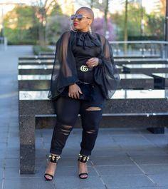 Stylish Plus-Size Fashion Ideas – Designer Fashion Tips Thick Girl Fashion, Plus Size Fashion For Women, Curvy Women Fashion, Look Fashion, Womens Fashion, Fashion 2017, Look Plus Size, Plus Size Girls, Plus Size Women