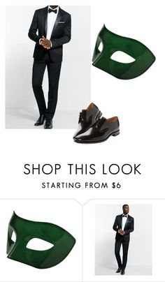 """""""masquerade ball"""" by digestive-biscuit ❤ liked on Polyvore featuring Masquerade, Express, Loake, men's fashion and menswear"""