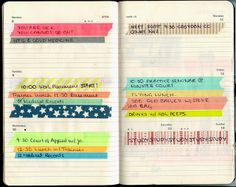 {moleskine} using lots of washi