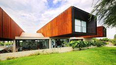 Cheng + Franco cantilever trio of Corten steel-clad volumes from rural Peruvian house
