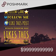 ⭐️⭐️FOLLOW GAME⭐️⭐️ Hey everyone⭐️ Follow the simple ways to gain more followers! ⭐️⭐️Good luck⭐️⭐️ Accessories