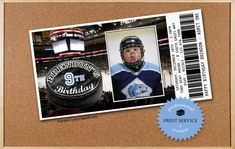 HOCKEY Birthday Invitations  PERSONALIZED with PHOTO  by customaed, $16.00