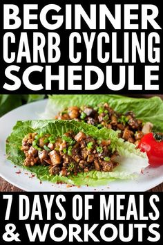 Carb Cycling for Women | If you want to lose weight but don't know how, this 7-day carb cycling menu contains a week's worth of meal plans and daily 30-minute fat burning HIIT, cardio, and strength training workouts to help you build muscle while also losing weight. Try it for 12 weeks – you'll be amazed at the body transformations carb cycling can produce! #carbcycling #lowcarbworkout #hiitcardio #fatburn...