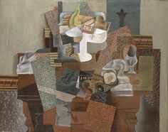 Simultaneity or Multiple Views: Pablo Picasso (Spanish, 1881-1973). Still Life with Compote and Glass, 1914-15. Oil on canvas. 25 1/4 x 31 1/2 in. (64.1 x 80 cm). Gift of Ferdinand Howald. Columbus Museum of Art, Ohio.