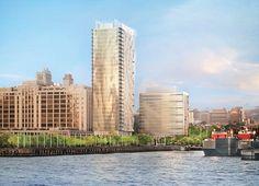 Fourteen Tower Proposals Unveiled for Controversial Brooklyn Bridge Park Development  BKSK + Aufgang's proposal