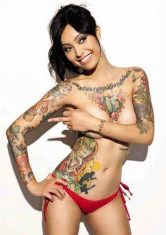 colourful tatts.