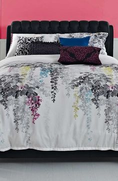 Free shipping and returns on KAS Designs 'Veranda' Duvet at Nordstrom.com. Watercolor-inspired graphics add naturalistic elegance to a cotton-sateen duvet cover.