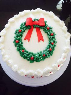 Christmas Themed Cake, Christmas Cake Designs, Christmas Deserts, Christmas Cake Decorations, Christmas Cupcakes, Holiday Cakes, Holiday Treats, Christmas Baking, Cake Decorating Techniques
