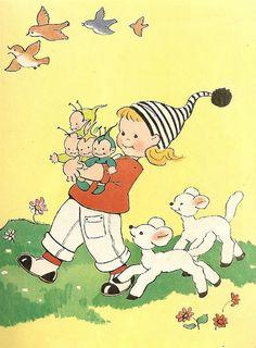 vintage Mabel Lucie Attwell book illustration