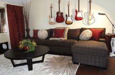 Guitar living room idea
