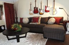 Guitar living room idea