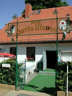 """Zum Garde Uhlan"" the small restaurant across the street from the garrison of the 3rd Garde Uhlan Regiment."
