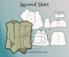 well-suited: Pattern Puzzle - Layered Shirt