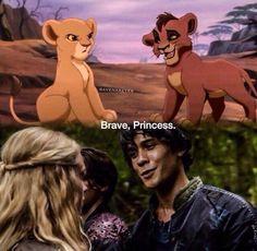 Bellamy Blake and Clarke Griffin || The 100 || Brave Princess || Bellarke || The Lion King || Kiara and Kovu || Eliza Jane Taylor and Bob Morley