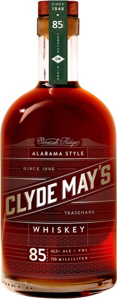 Clyde May's Conecuh Ridge Alabama Style Whiskey. Alabama's official state spirit, this #whiskey earned the Gold Medal at the WSWA Tasting Competition in 2012. | @Caskers
