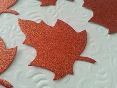 Glitter Leaf Die Cuts