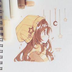 Drawings Anime Fans For Anime Fans Anime Art Anime anime art Drawings Fans Anime Drawings Sketches, Cool Art Drawings, Anime Sketch, Kawaii Drawings, Cartoon Drawings, Chibi Sketch, Cute Drawings Of Girls, Chibi Girl Drawings, Random Drawings