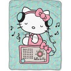 """Sanrio's Hello Kitty """"Rocking Kitty"""" 46"""" x 60"""" Micro Raschel Throw"""