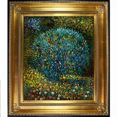 Gustav Klimt Apple Tree I Hand-painted Framed Canvas Art - Free Shipping Today - Overstock.com - 16871955